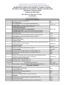 Plan konferencije 21.09.16